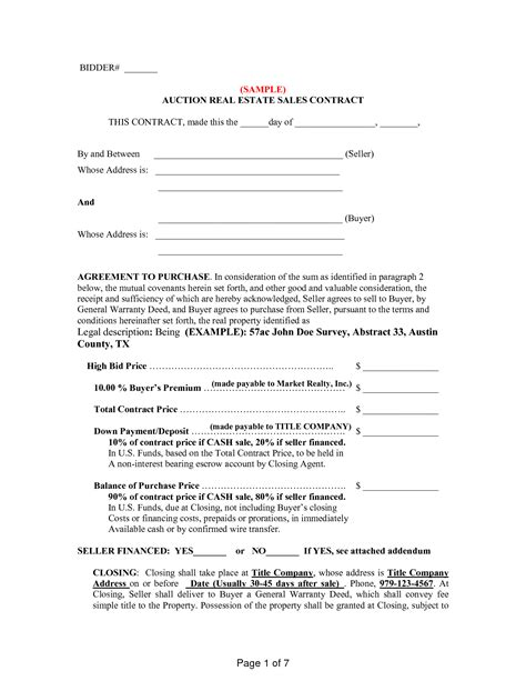 buyer seller contract template 10 best images of buyer seller agreement template for car