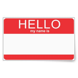 name this hello my name is stickers zazzle
