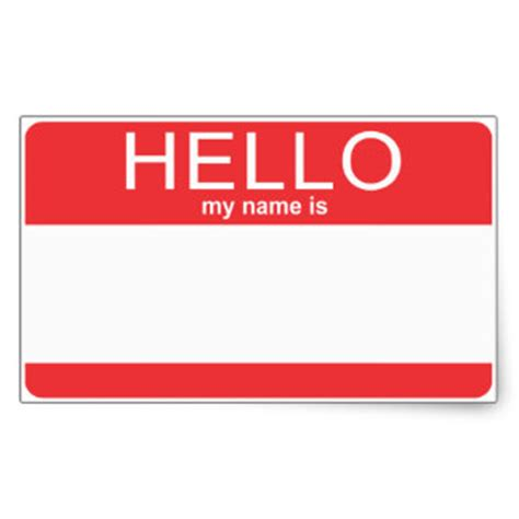 template for stickers hello my name is stickers zazzle
