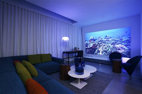 projector in living room lg s incredible quot wallpaper tv quot is so thin you can peel