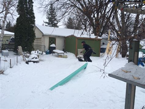 snowboard rails for backyard taking control of your space or snowboarding in your