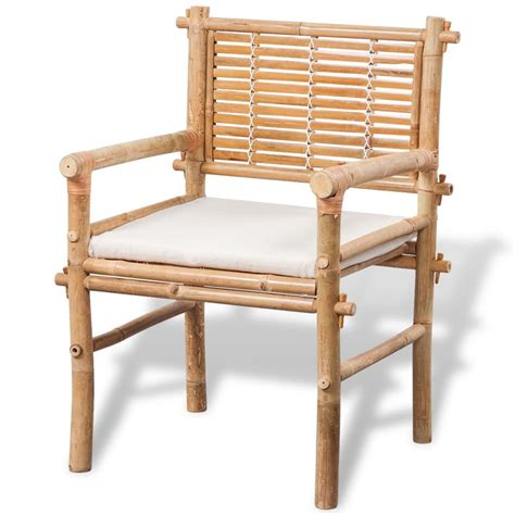 Bamboo Patio Furniture Vidaxl Co Uk Vidaxl Five Garden Furniture Set Bamboo
