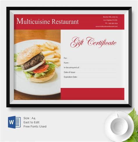 How Do I Use A Restaurant Com Gift Card - 25 certificate templates free premium templates