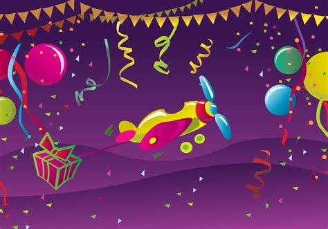 happy birthday postcard   vector art stock
