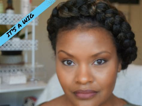 wigs made for black people that are braided how to faux halo goddess braid protective style using a