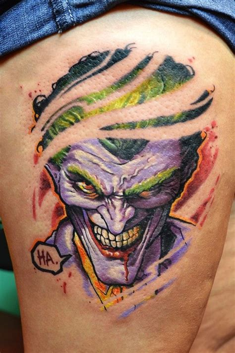 tattoo cream buzzfeed 35 tattoos of the joker that will make you smile