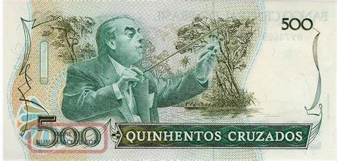 Brasil 500 Cruzados Unc brazil 500 cruzados banknote 1987 p 212 unc south america