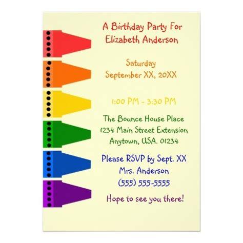 Best 25 Crayon Birthday Parties Ideas On Pinterest Art Crayon Invitation Template