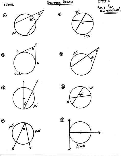 10 Grade Geometry Worksheets by Gcse Maths Circles Worksheets Circle Theorems Ks4 Lesson
