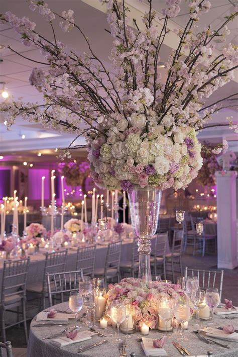 cherry blossom arrangements tall ornate pink cherry blossom centerpieces beautiful