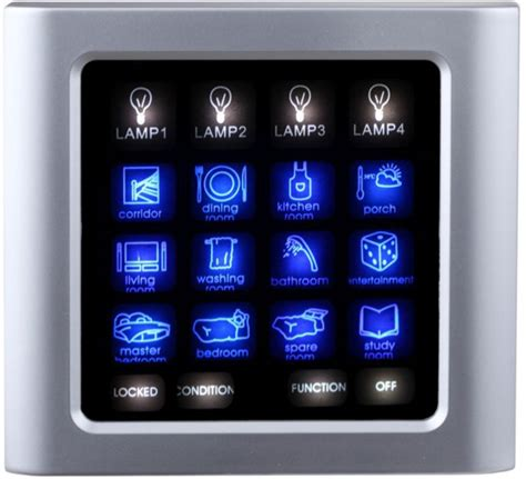 touch screen light switch touch screen lichtschalter panel shell an der wand