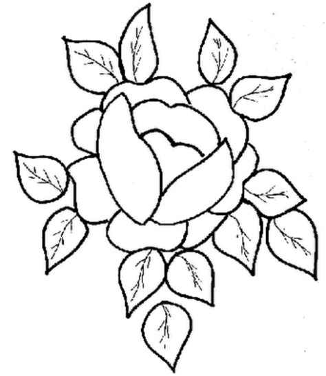 coloring page rose flower flower coloring part 18