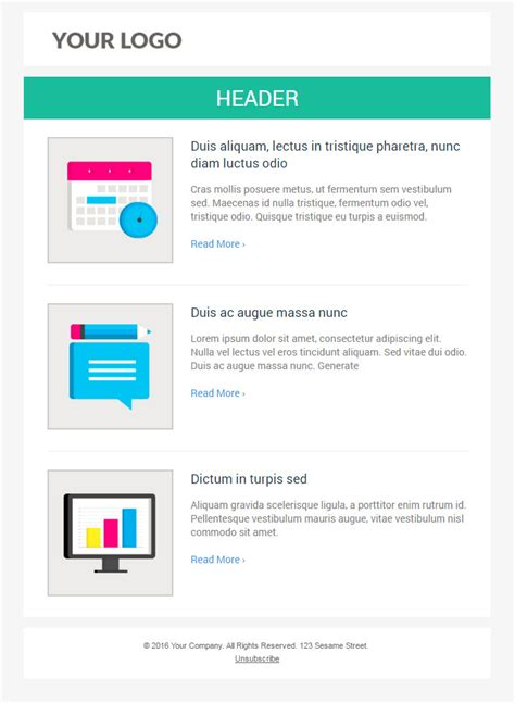 email template free 6 free responsive marketo email templates
