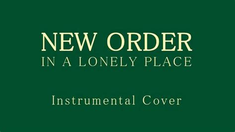 A Place Instrumental New Order In A Lonely Place Instrumental Cover