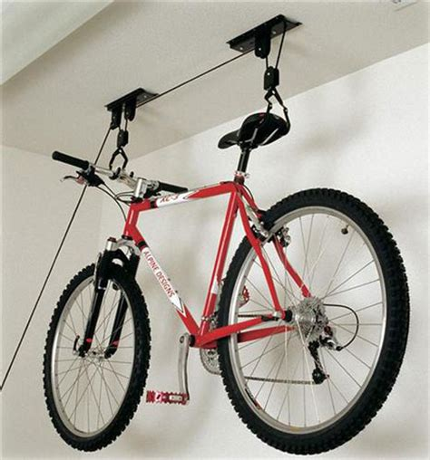 Ceiling Mounted Bike Lift racor pbh 1r ceiling mounted bike lift bike storage