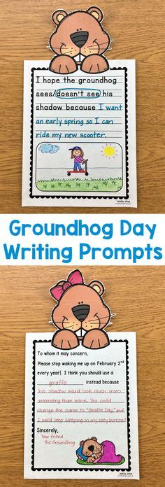 groundhog day journal prompts second grade reading comprehension worksheet