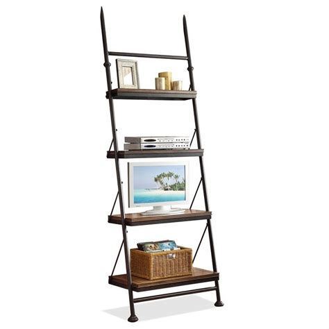 Leaning Bookcase Riverside Furniture Camden Town Leaning Bookcase In