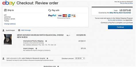 ebay import charges global shipping program