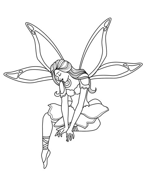 fairies coloring page free printable coloring pages for