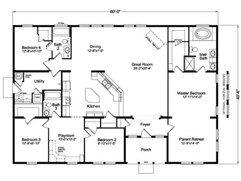 manufactured homes montana floor plans house design ideas
