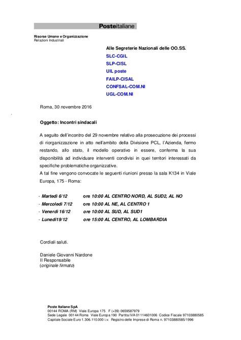 poste italiane spa sede legale calendario incontri pcl dicembre2016