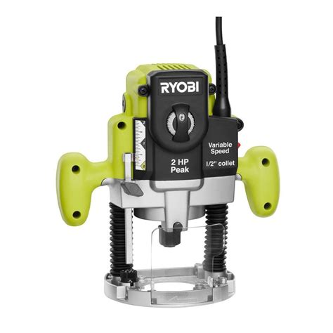 ryobi 2 hp 10 plunge base router re180pl1g the home