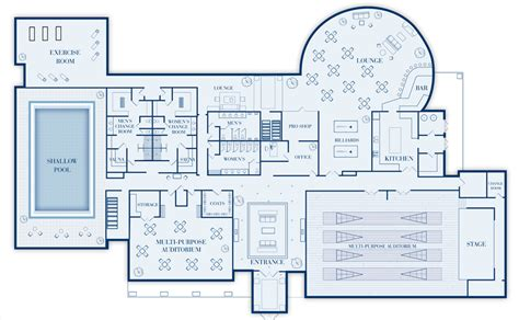 Golf Course House Plans by Golf Course Clubhouse Floor Plans