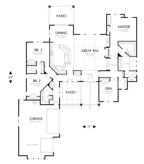 mascord floor plans mascord house plan 1235 the broderick