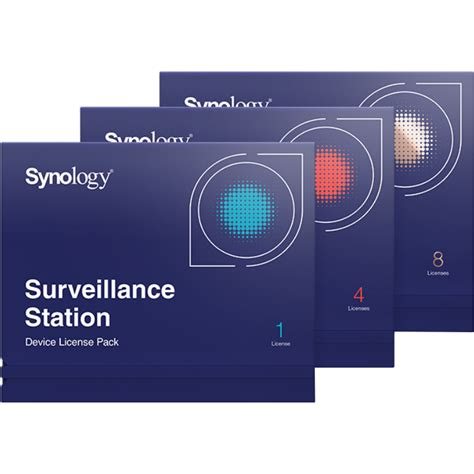 synology license synology surveillance device license pack 1 synology