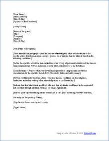 Letter Of Intent Template by Free Letter Of Intent Template Sle Letters Of Intent
