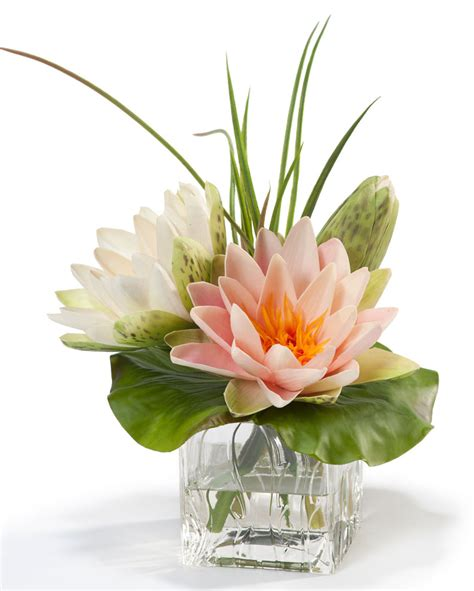 flowers arrangements buy lifelike lotus blossom lily pad silk flower