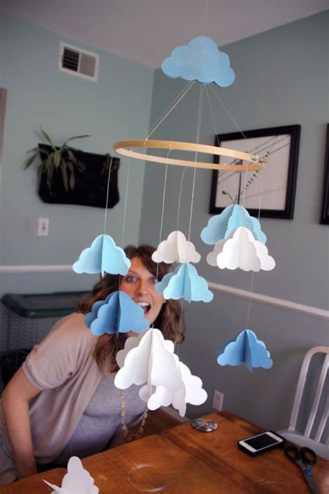 How To Make A Paper Mobile For Nursery - 1000 ideas about cloud mobile on felt mobile