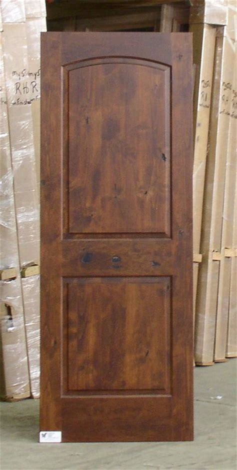 How To Stain Interior Doors American Walnut Stained Cabinets Panel Knotty Alder Interior Doors Model Isw P802 For