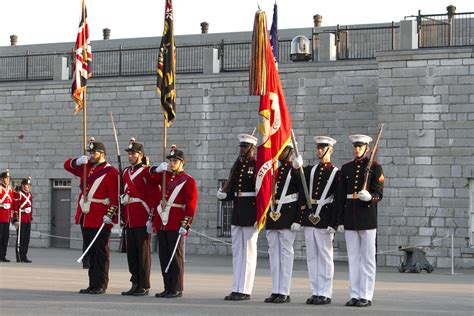 marine color guard the battle colors detachment goes to canada