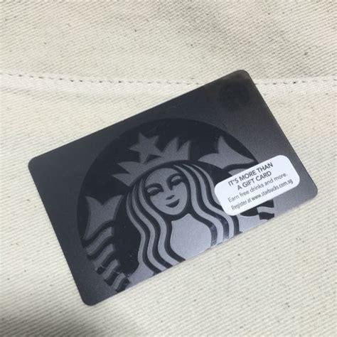 Kartu Starbuck Black Siren reserved starbucks black siren card limited edition everything else on carousell