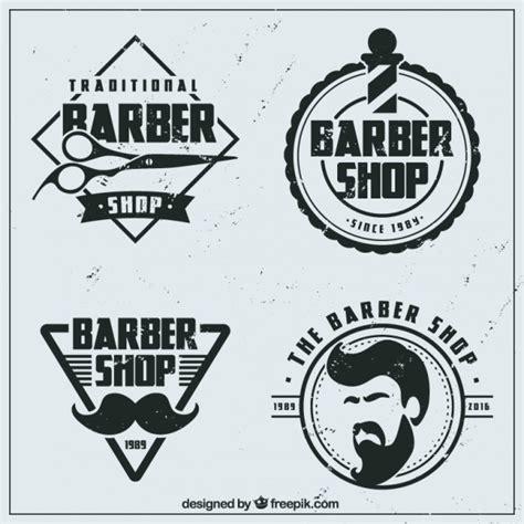 logos de barber 237 a planos vintage descargar vectores gratis
