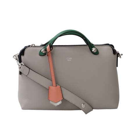 fendi by the way small boston bag in gray lyst