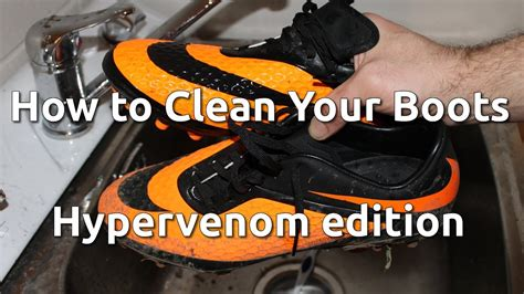 how to clean football shoes how to clean your football boots hypervenom edition