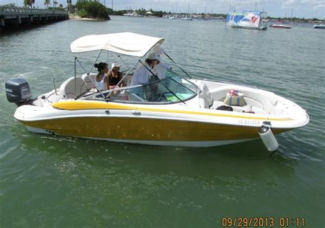 miami beach boat rental with captain 23 azure boat perfect for cruising the bay picture