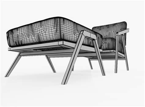 Katakana Ottoman katakana lounge chair ottoman by studio 3d model max obj 3ds fbx dwg cgtrader