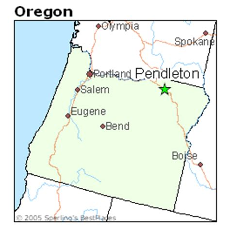 map of oregon pendleton best places to live in pendleton oregon