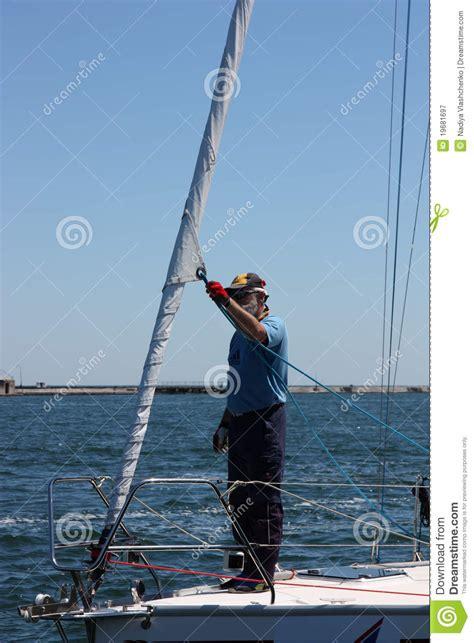 sailboat captain captain of sailboat editorial photography image 19681697