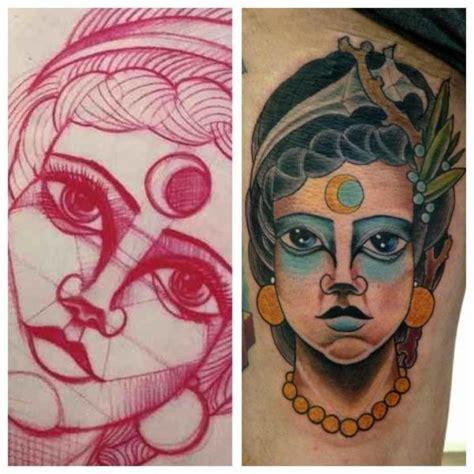 new school gypsy tattoo arm new school gypsy tattoo by matt adamson