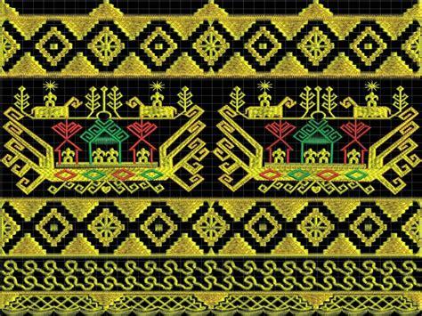 Kain Etnik Tumpal Hitam Kalimantan Selatan macam macam kain tenun tradisional asli indonesia