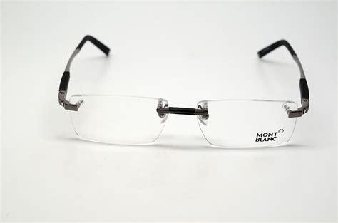 mont blanc mb 349 008 s 56 eyeglasses gunmetal rimless rx
