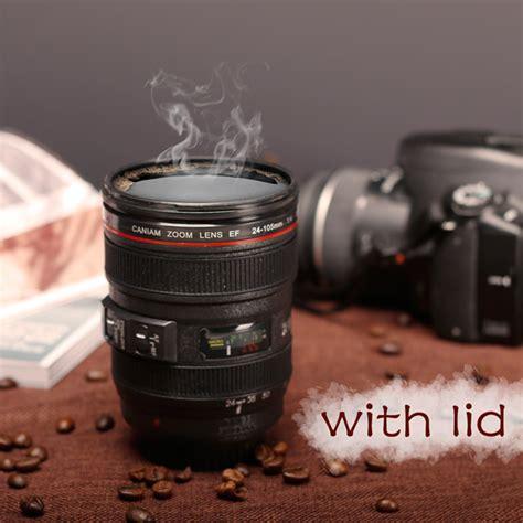 Total 380ml 380ml creative emulation lens coffee mug cup