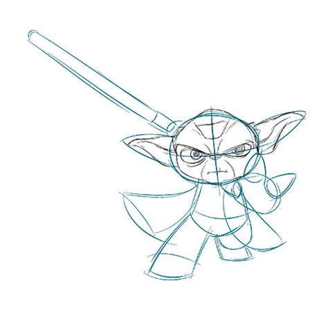 Yoda Drawing Outline by How To Draw Yoda