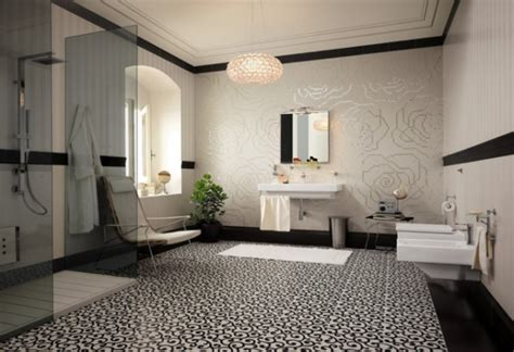 Black And White Bathroom Designs 15 amazing modern bathroom floor tile ideas and designs