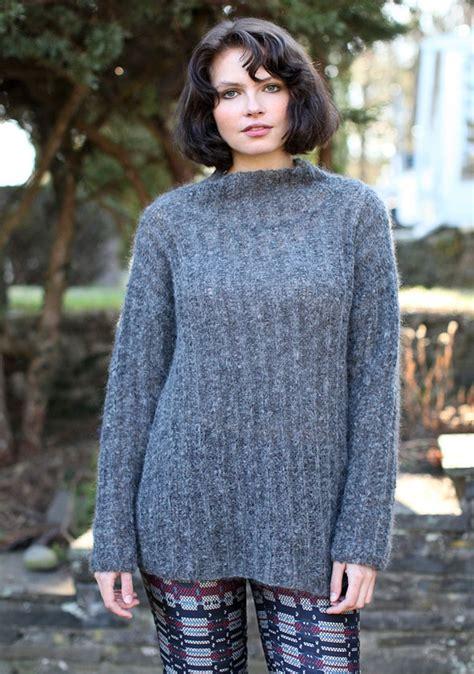 easy knit turtleneck sweater pattern hubbard berroco