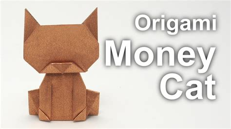 how to make origami cat origami money cat v2 jo nakashima viyoutube
